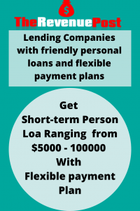 Lending Companies with friendly personal loans and flexible payment plans