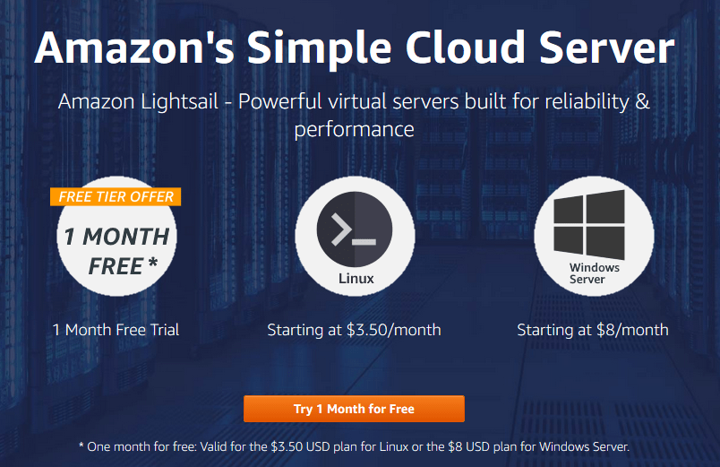 cheap cloud hosting service by amazon