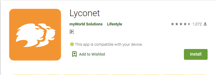 Lyconet cashback app